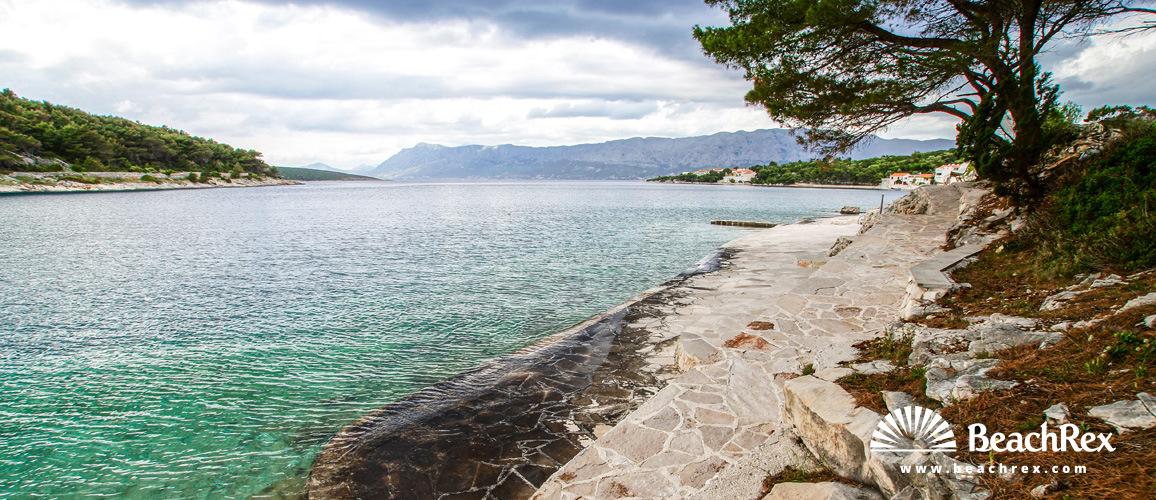 Croatia - Dalmatia  Split - Island Brač -  Povlja - Beach Ratac