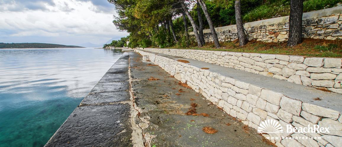Croatia - Dalmatia  Split - Island Brač -  Povlja - Beach Povlja
